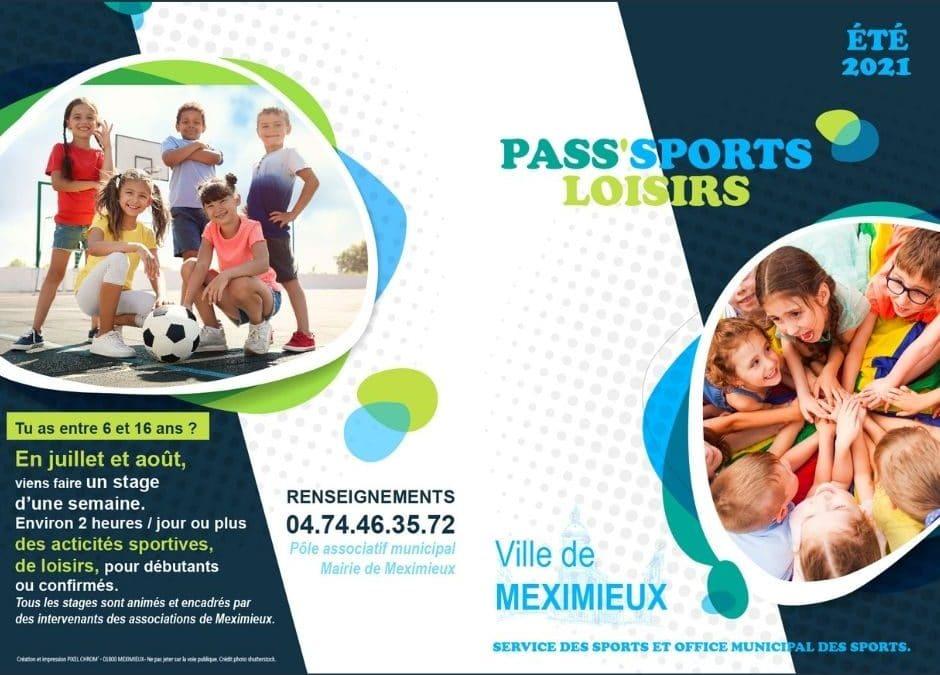 PASS'SPORTS LOISIRS 2021 MEXIMIEUX