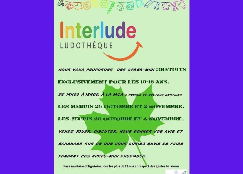 INTERLUDE LUDOTHÈQUE